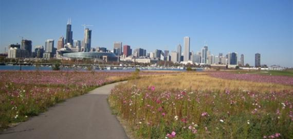 Northerly Island in Burnahm Park