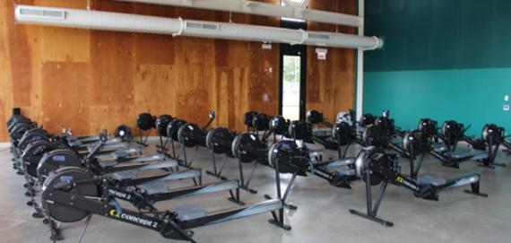 Year-round rowing in the boathouse