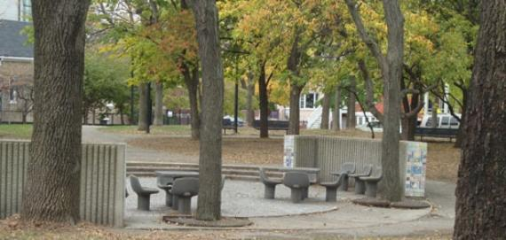 Senior Citizens Memorial Park sitting area