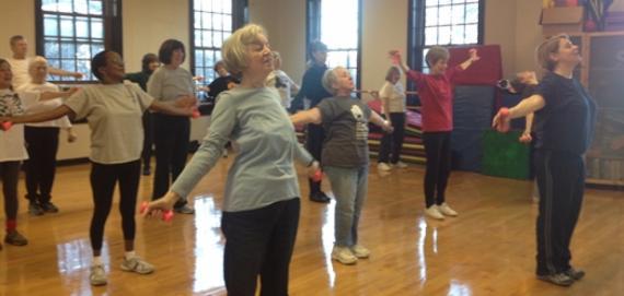 Senior Exercise Class at Lincoln Park Cultural Center