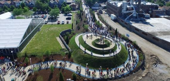 Ridgeway from the air on Opening Day!