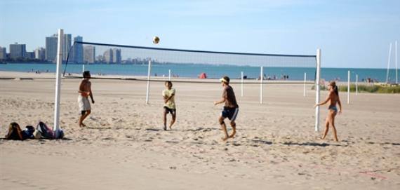 Volleyball at Montrose Beach.