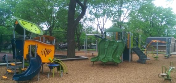Bell Park Chicago Plays! renovated playground