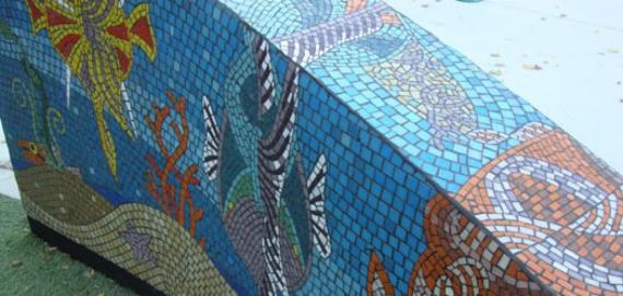 Colorful Tile Mosaic at Weisman Park