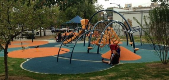 new playground at Mellin Playground