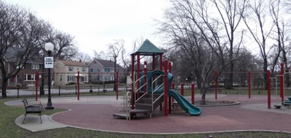 The lovely playground at Hurley Park