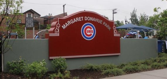 The entrance to Margaret Donahue Park