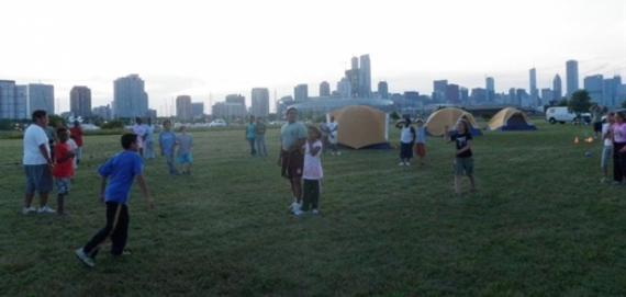 Family Camping at Northerly Island