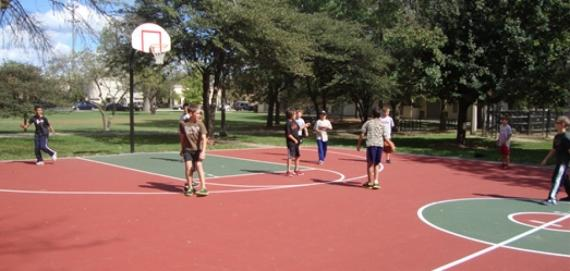 New Slam Dunk Basketball Court at Olympia Park