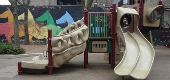 Playground at Park West Park.
