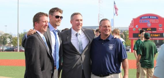 Park Superintendent Mike Kelly with Kerry Wood