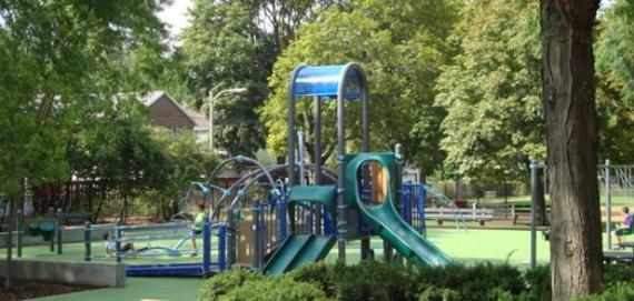 Come out and enjoy the playground at Sauganash Park.