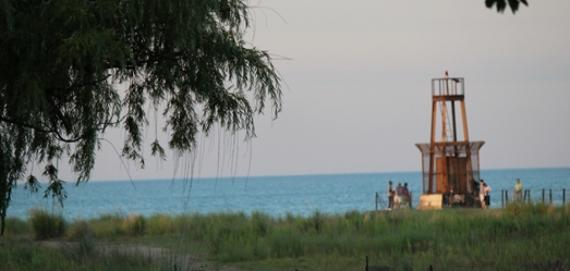 View of the Light House from Tobey Prinz Beach Park