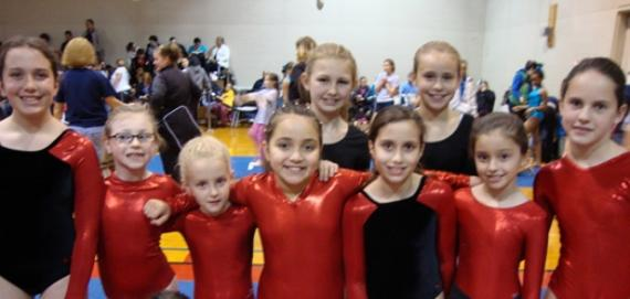 Norwood Park Girls Tumbling Team.