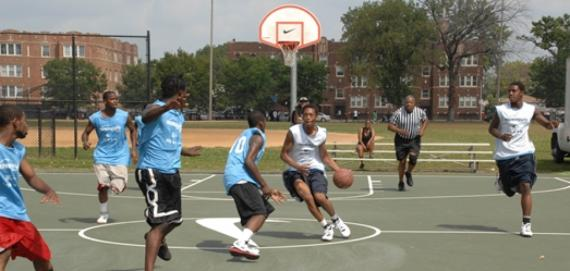 Basketball courts at Franklin