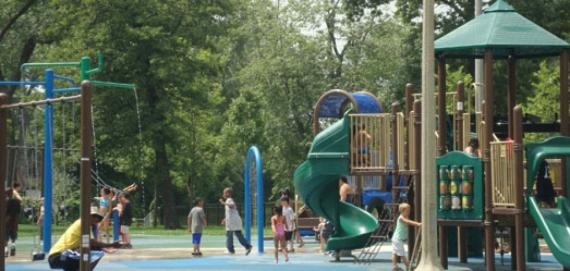 Kids just love the playground at Rutherford Sayre Park!