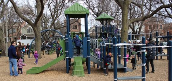 Chicago Plays! playground renovation at Hamlin Park