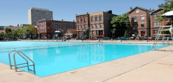 The pool at Pulaski Park