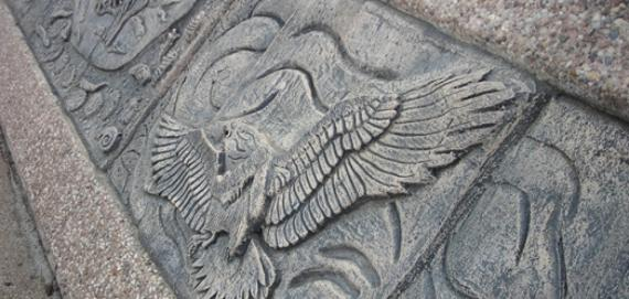 Eagle cast cut artwork by artist Phil Schuster