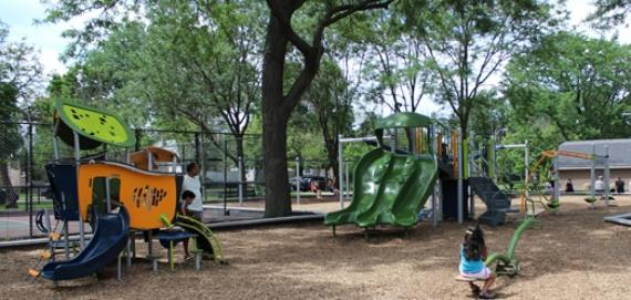 new Chicago Plays playground renovation 2015 at Bell Park