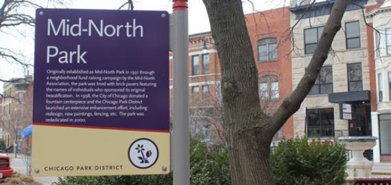 Mid-North Park Sign