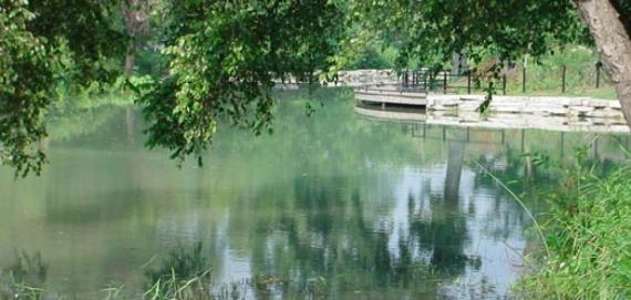 Gompers Park Lagoon with fishing pier