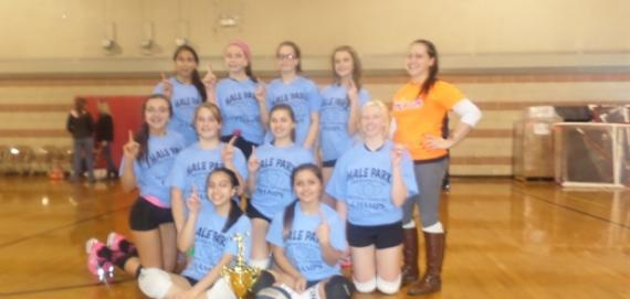 Hale Park teens enjoying a great win at the MLK Volleyball Tournament
