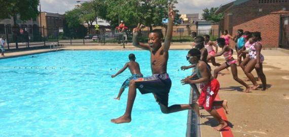 Swimming at Altgeld Park!