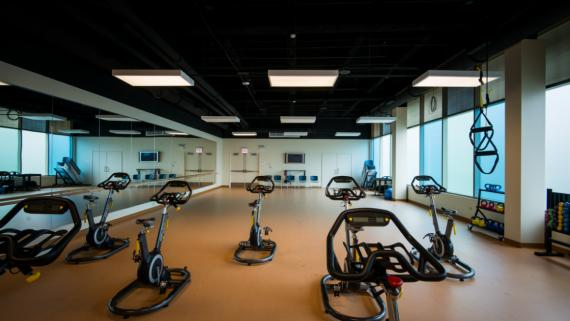 The fitness and dance studio at Jesse White