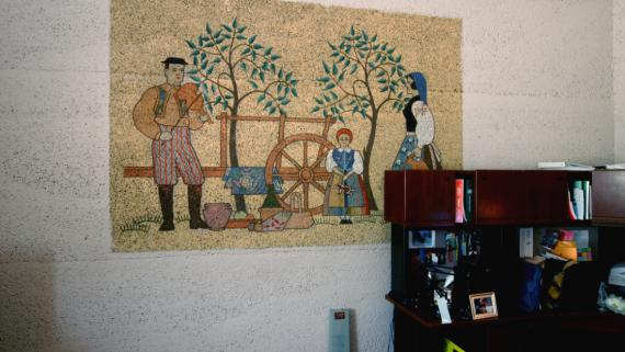 Old Crafts Room Mural