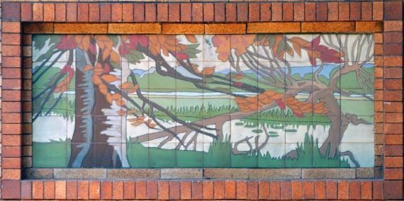 Café Brauer Cermanic Tile Murals