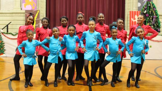 A holiday dance performance at Douglas