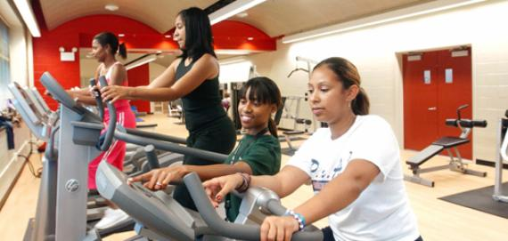 The fitness center at Fosco