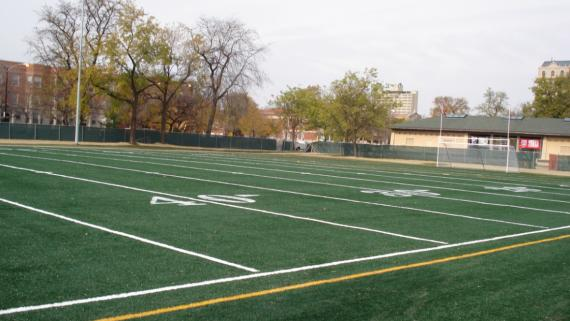 Garfield Football Soccer Field Artificial Turf Chicago Park District