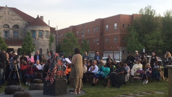 Community gathering at Brooks park