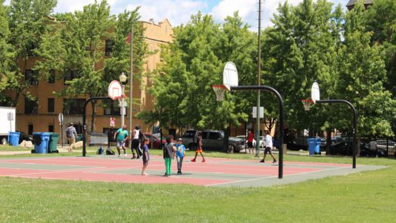 Wicker Basketball Court   Outdoor