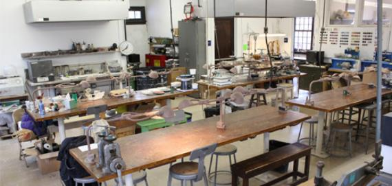 The jewelry and lapidary workshop at Lincoln Park Cultural Center