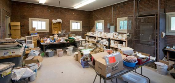 Inside the ceramics studio