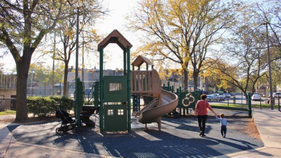 The playground at Sheridan