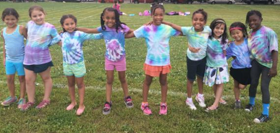 Happy summer day campers at Skinner Park!