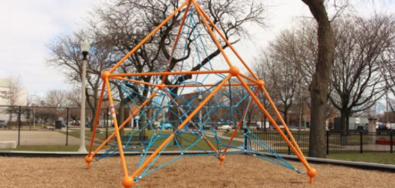 Climbing structure at Touhy-Herbert