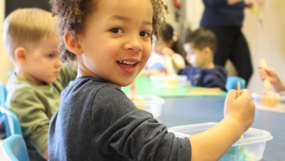 Learning is fun in the Kiddie College program!
