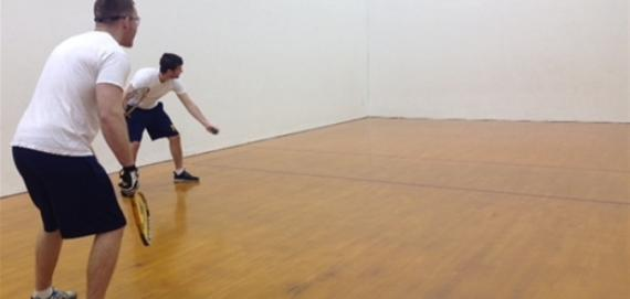 Raquetball court at Pottawattomie Park