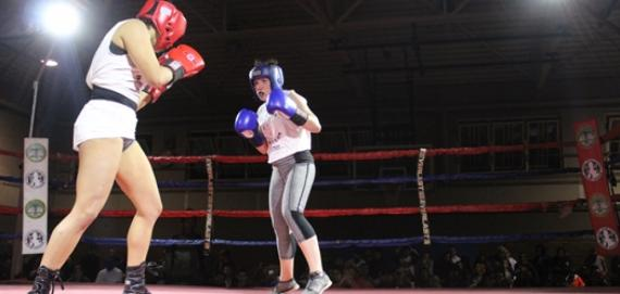 Girls rocked the boxing ring at Hamlin Park boxing showcase.