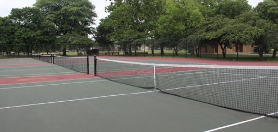 Tennis courts at Mather Park.