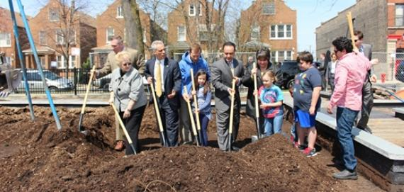 Groundbreaking at Kucinski-Murphy Park