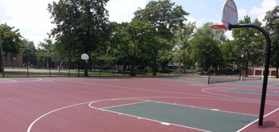 Brainerd Park Caged Basketball Court