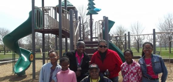 Abbott Park ribbon cutting of the new Chicago Plays! playground