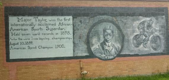 A mural at Major Taylor Bike Trail