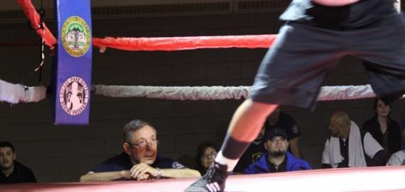 The Legendary boxing coach Bill Heglin at Hamlin Park.
